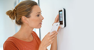Using smartphone for thermostat