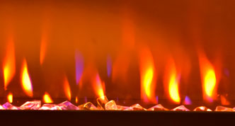 Propane fireplace flames