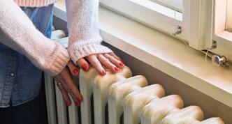Touching radiator