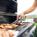 Grilling with a propane grill