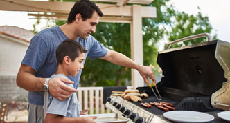 Teaching propane grill use